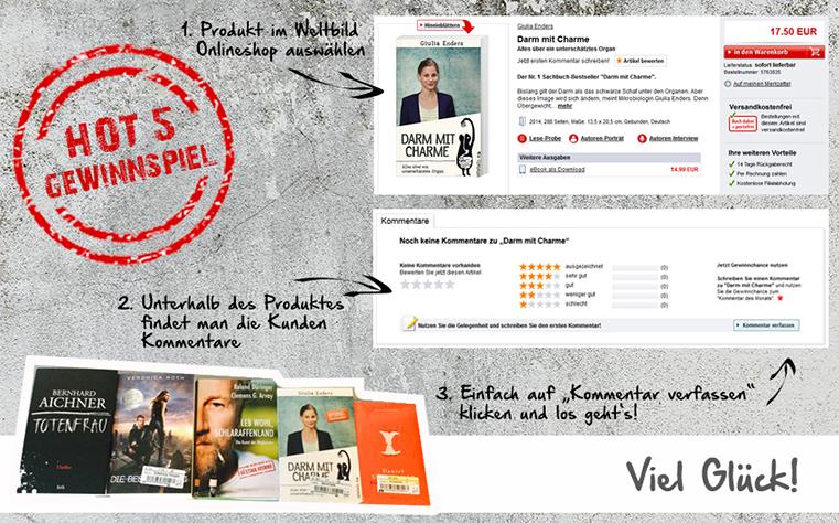 Hot 5 Buch Bestseller gewinnen!